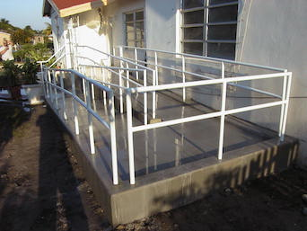 Concrete Handicap Ramp