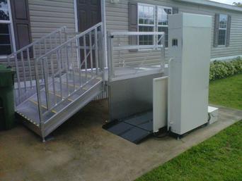 Module Handicap Ramp  Platform Lift with Stairs