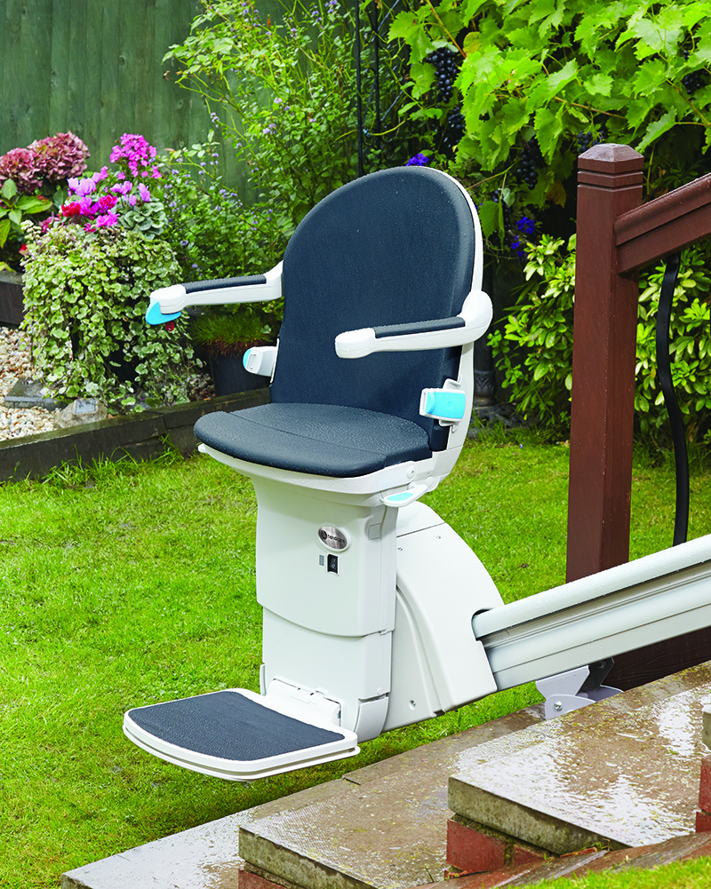 Sterling Outside Stair Lift - to Assist Handicapped Elderly, Florida «