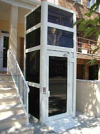 Handicap Platform Lifts Commercial Enclosed Vertical Platform Lift Delray Fort Lauderdale Florida