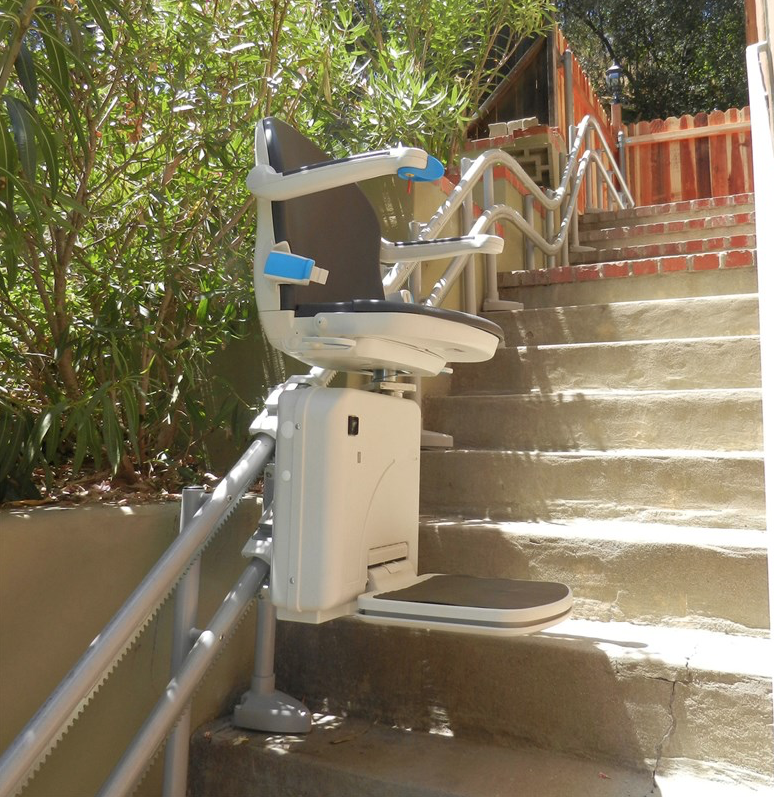 Handicare Twin Rail Outdoor Curve Stair Lift